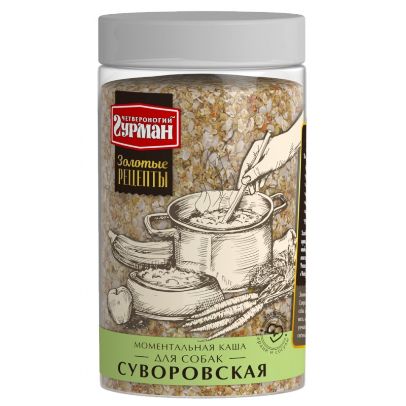Каша для собак Четвероногий Гурман Золотые рецепты Суворовская 0,3 кг