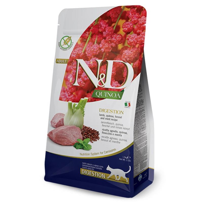Сухой корм для кошек Farmina N&D Quinoa Digestion беззерновой с ягненком и киноа 1,5 кг