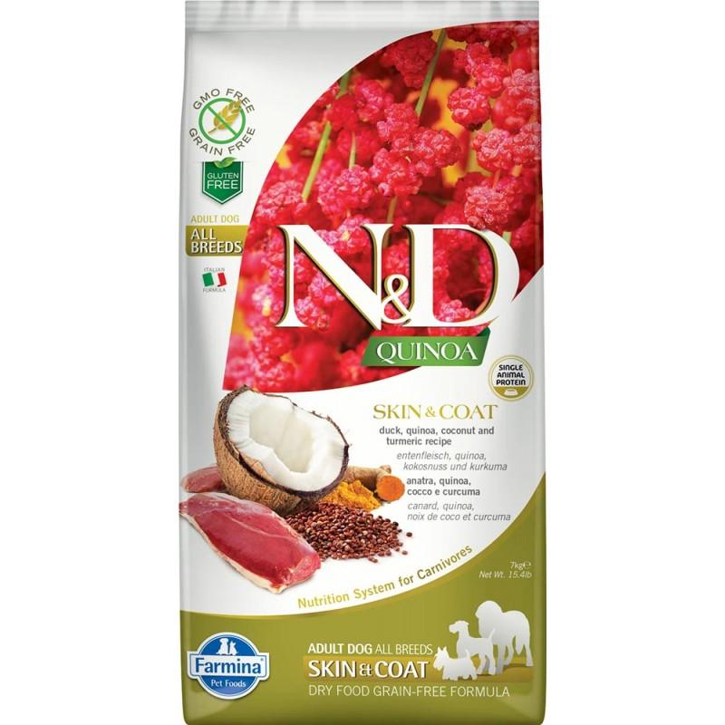 Сухой корм для собак Farmina N&D Quinoa Skin & Coat беззерновой с уткой и киноа 0,8 кг