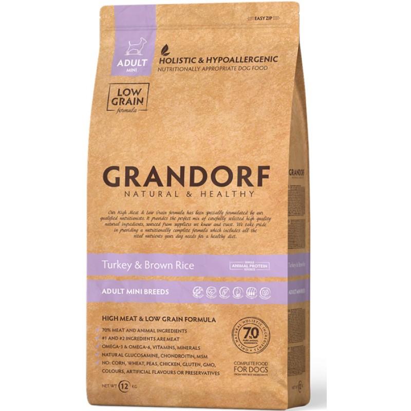 Сухой корм для собак Grandorf Индейка с рисом для маленьких пород 3 кг