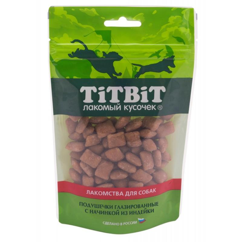 Лакомство для собак Titbit Подушечки глазированные с начинкой из индейки 0,1 кг
