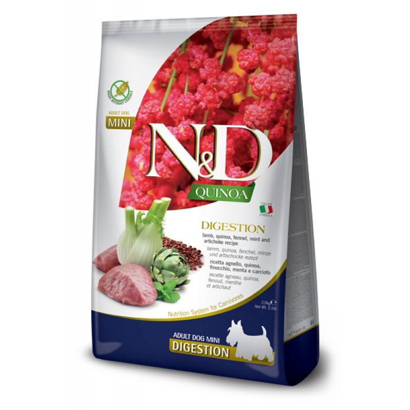 Сухой корм для собак Farmina N&D Quinoa Digestion Mini беззерновой с ягненком и киноа 2,5 кг