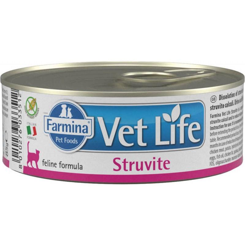 корм Farmina Vet Life Natural Diet Struvite паштет диета для кошек 0,085 кг