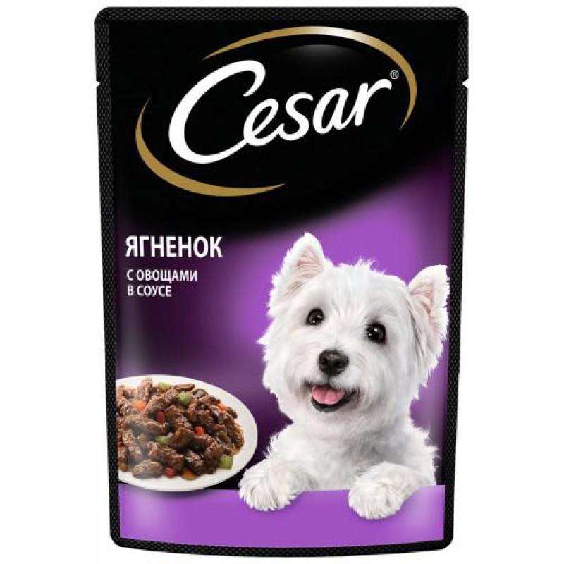 Влажный корм для собак Cesar Ягненок с овощами пауч 24шт 0,1 кг