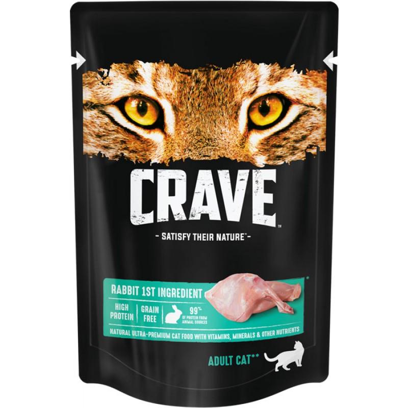 Влажный корм для кошек Crave Adult скроликом 0,07 кг