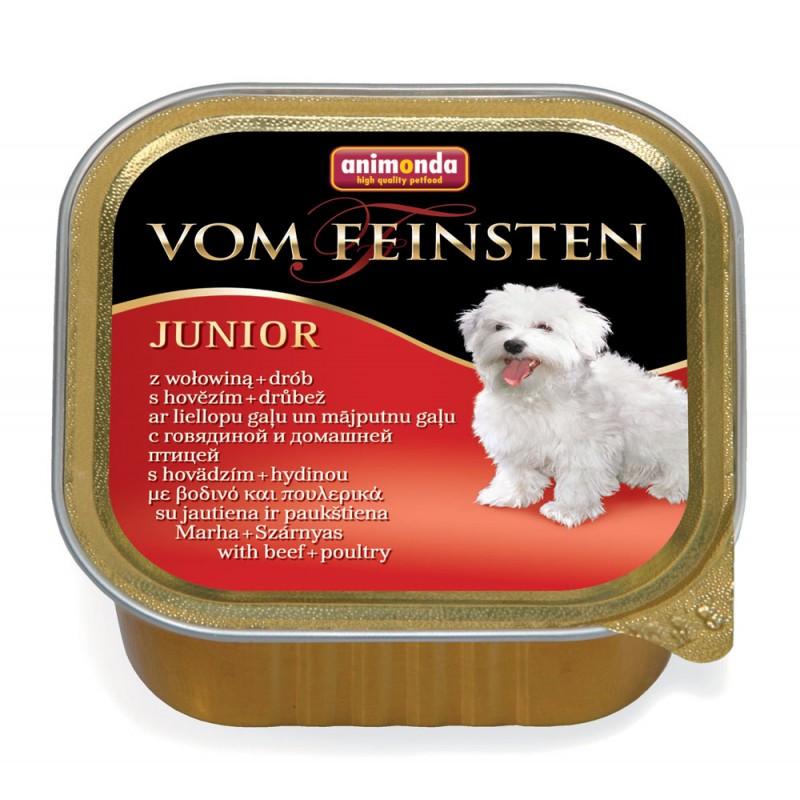 Влажный корм для собак Animonda Vom Feinsten Junior beef and poltry 0,15 кг