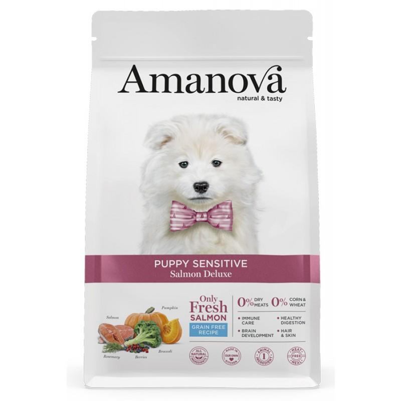 Сухой корм для щенков Amanova Puppy Sensitive с лососем