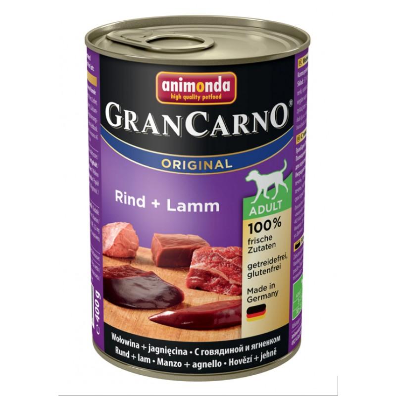 Влажный корм для собак Animonda Gran Carno Adult Original с говядиной и ягненком 0,4 кг