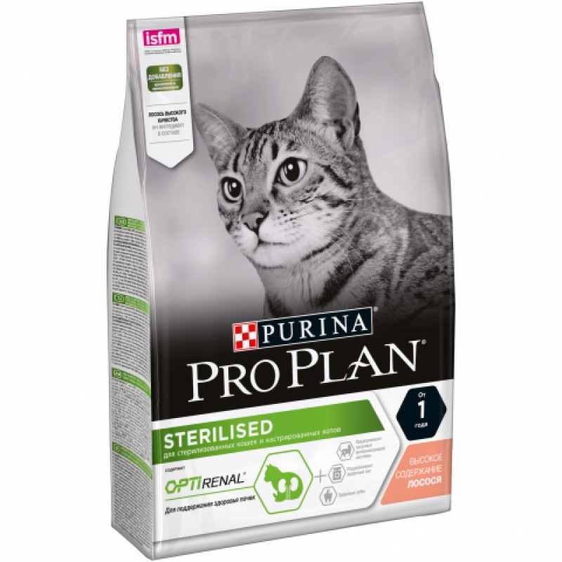 Сухой корм для кошек Purina Pro Plan Sterilised Feline Salmon 1,5 кг