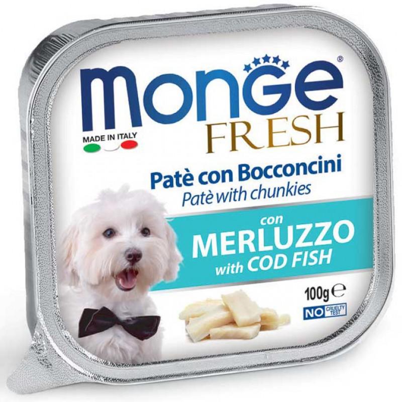 Влажный корм для собак Monge Fresh треска 0,1 кг