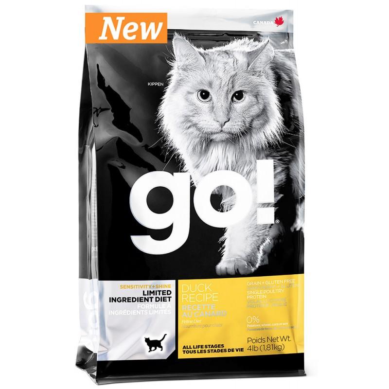 Сухой корм для кошек Go! Sensitivity + Shine Duck Cat Recipe Limited Ingredient Diet Grain Free 3,63 кг