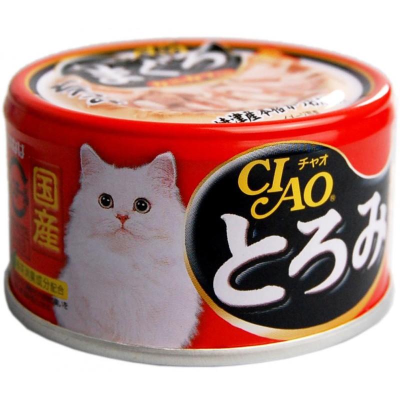Влажный корм для кошек Premium Pet Inaba Камчатский краб с мраморной вырезкой желтоперого тунца и парным филе курицы 0,08 кг