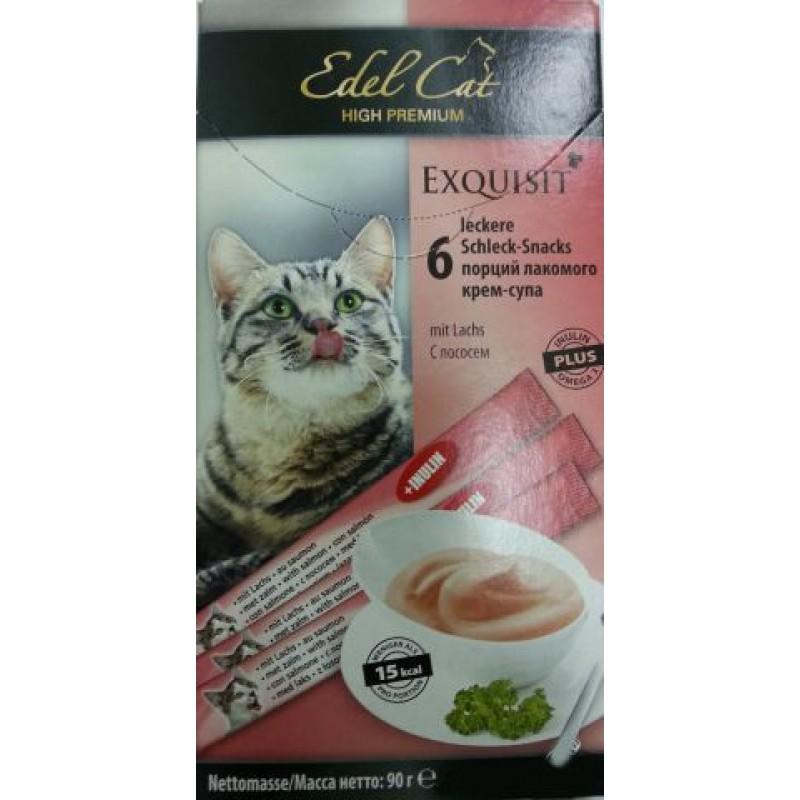 Лакомство для кошек Edel Cat Крем-суп с лососем 0,09 кг