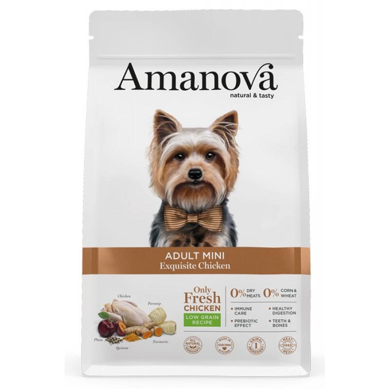 Сухой корм для собак Amanova Adult Mini с изысканной курочкой для мелких пород 2 кг