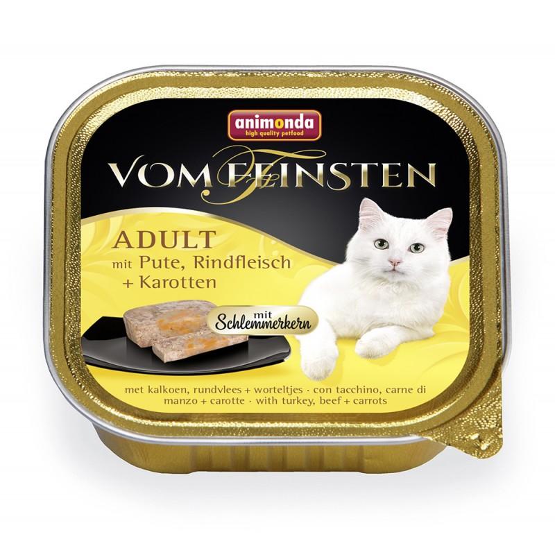 Влажный корм для кошек Animonda Vom Feinsten Adult с индейкой, говядиной и морковью 0,1 кг