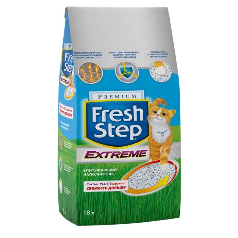 Наполнитель Fresh Step Extreme впитывающий цеолит без запаха 9,52кг 18 л