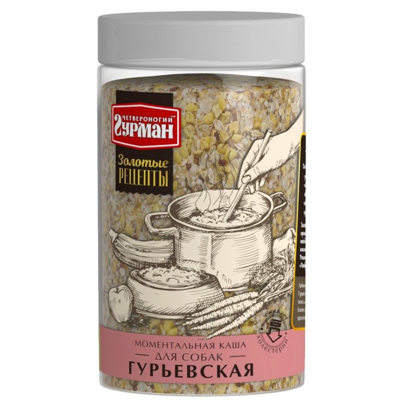 Каша для собак Четвероногий Гурман Золотые рецепты Гурьевская 0,3 кг