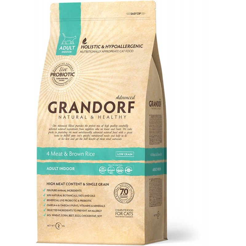 Сухой корм для кошек Grandorf Probiotic Indoor 0,4 кг