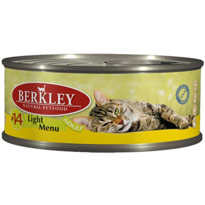Влажный корм для кошек Berkley №14 Light Menu 0,1 кг