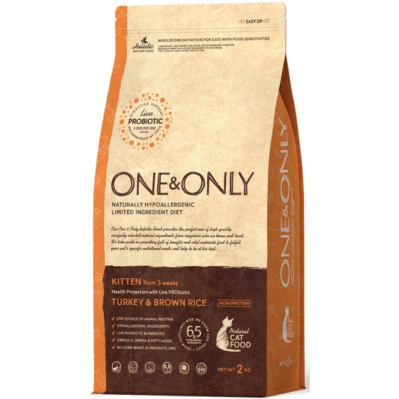 Сухой корм для котят One&Only Turkey & Rice Kitten 2 кг