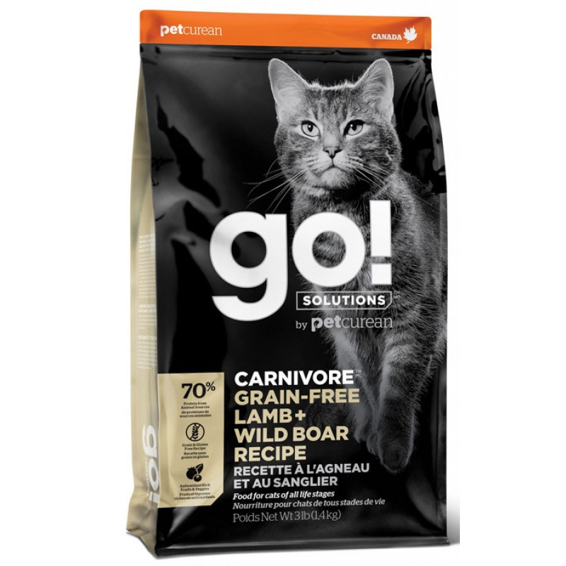 Сухой корм для кошек Go! Carnivore GF Lamb + Wild Boar Recipe CF 7,26 кг