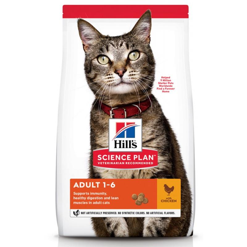 Сухой корм для кошек Hills Science Plan Optimal Care Adult Chicken 10 кг