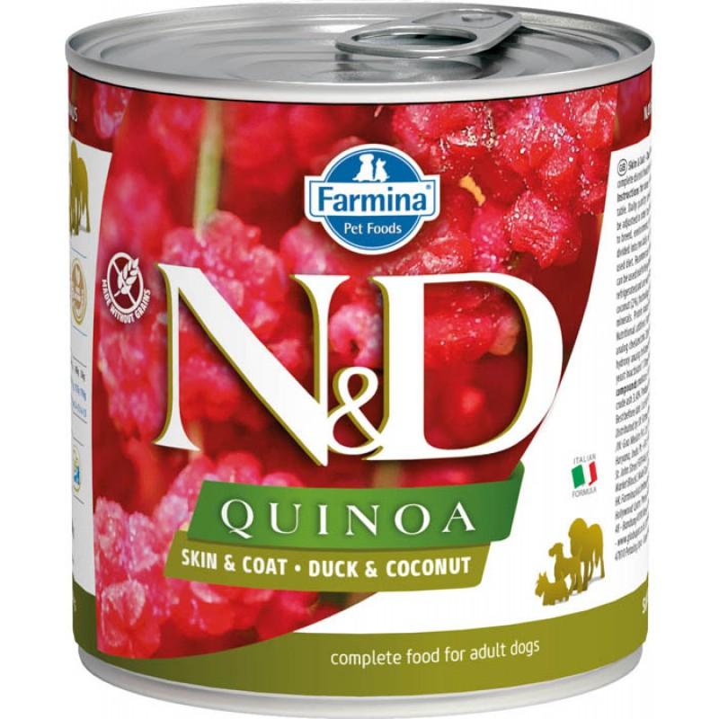 Влажный корм для собак Farmina N & D Quinoa Duck & Coconut с уткой, киноа и кокосом 0,285 кг