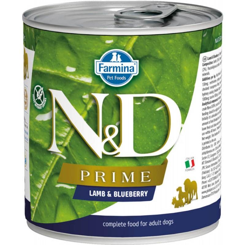 Влажный корм для собак Farmina N & D Dog Prime Lamb & Blueberry с ягненком и черникой 0,285 кг