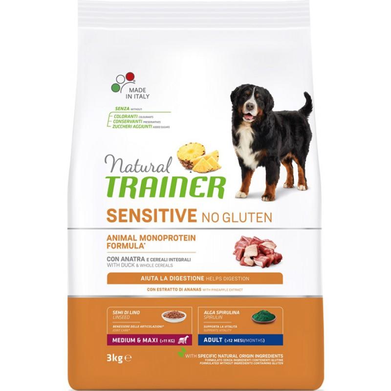 Сухой корм для собак Trainer Sensitive No Gluten Medium&Maxi Adult Duck для крупных и средних пород с уткой 3 кг