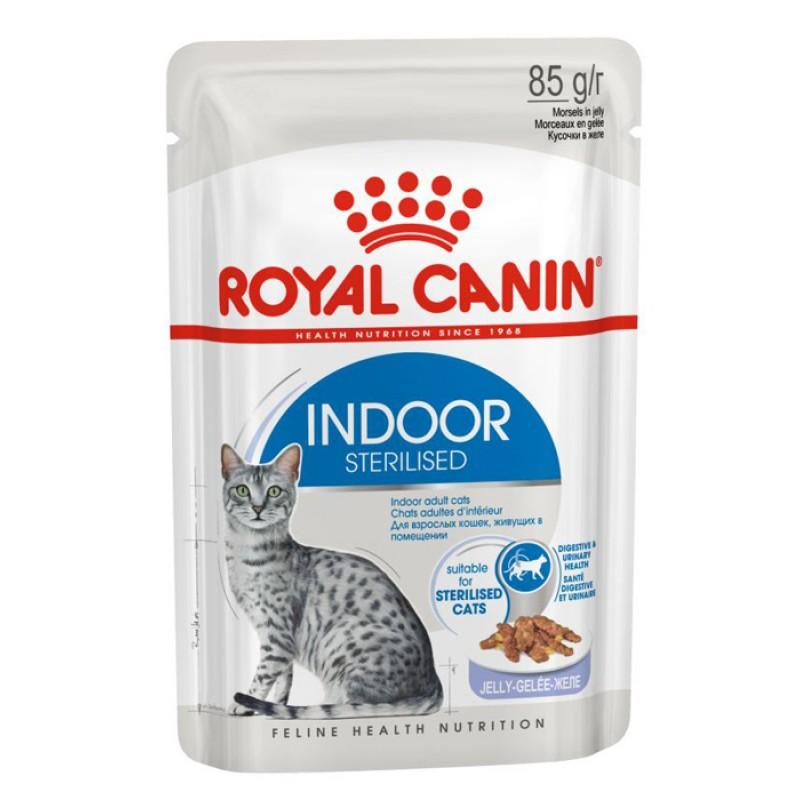 Влажный корм для кошек Royal Canin Indoor Sterilized в желе 0,085 кг