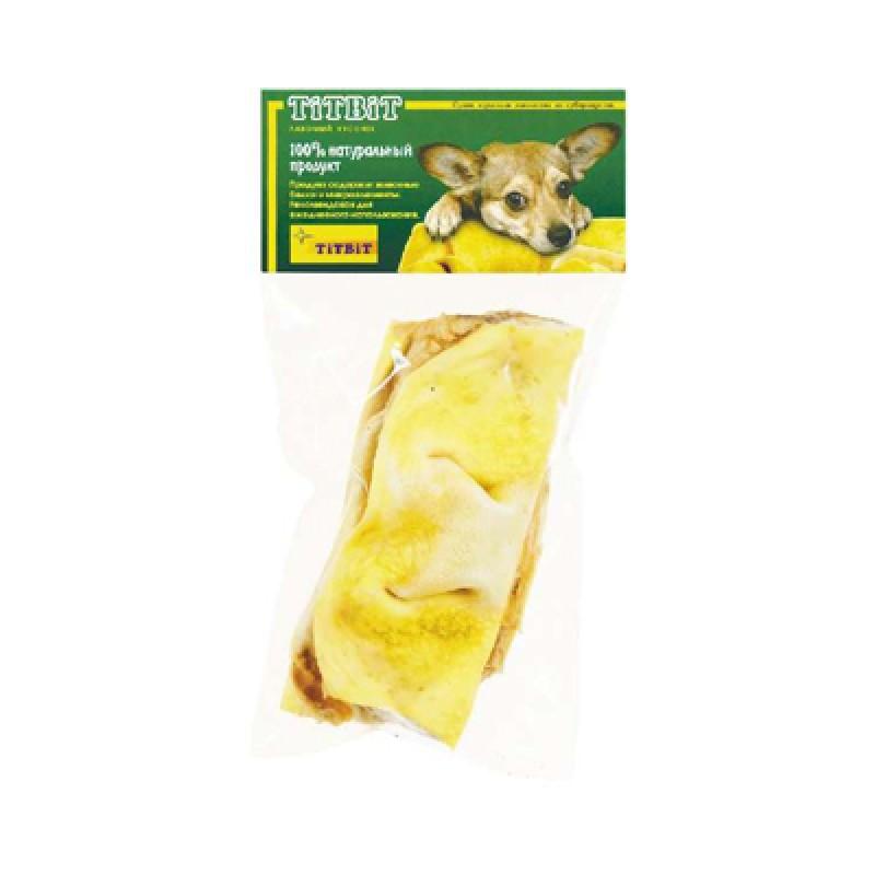 Лакомство для собак Titbit Нос телячий бабочка 2 шт 0,075 кг