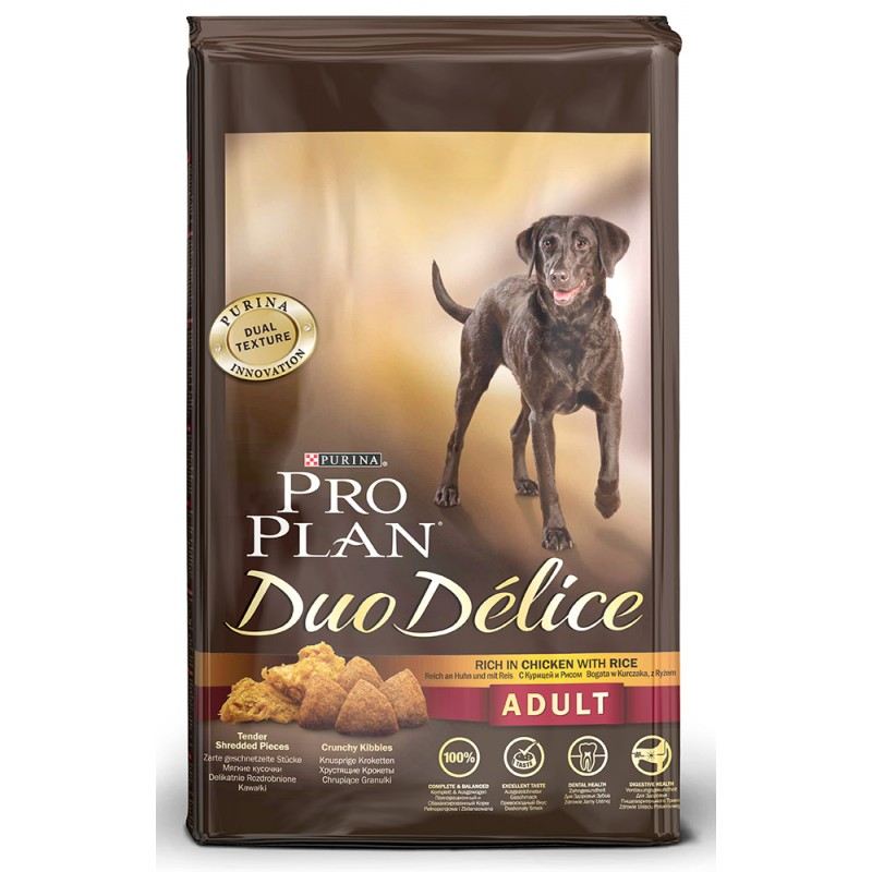 Сухой корм для собак Purina Pro Plan Duo Delice Adult Сanine Chicken&Rice 2,5 кг