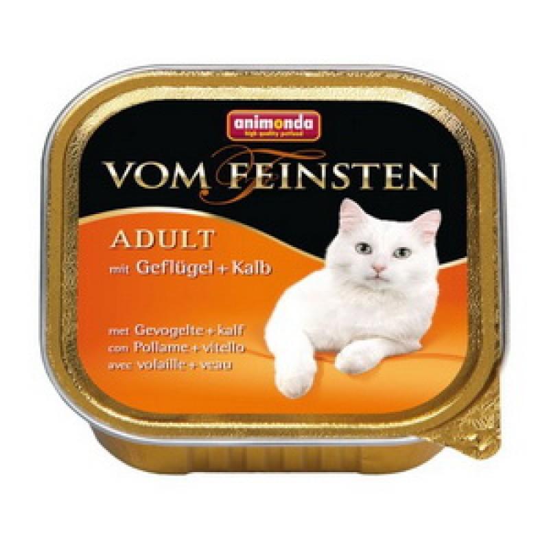 Влажный корм для кошек Animonda Vom Feinsten Adult с домашней птицей и телятиной 0,1 кг