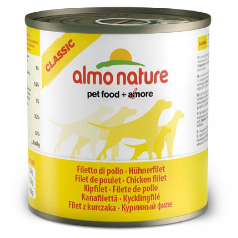 Влажный корм для собак Almo Nature Classic Chicken Fillet 0,28 кг