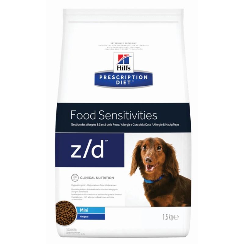 Сухой корм Hills Food Sensitivities Mini z/d диета для собак 1,5 кг