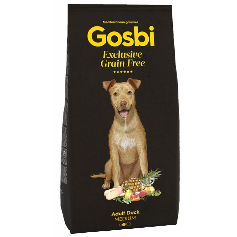 Сухой корм для собак Gosbi Exclusive Grain Free Adult Duck Medium с уткой для средних пород 3 кг