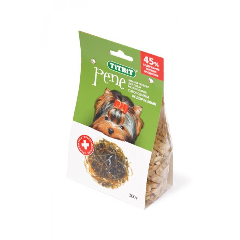 Лакомство для собак Titbit Печенье Pene с морскими водорослями 0,2 кг
