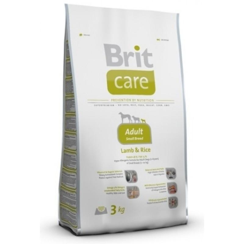 Сухой корм для собак Brit Care Adult Small Breed Lamb&Rice 1 кг