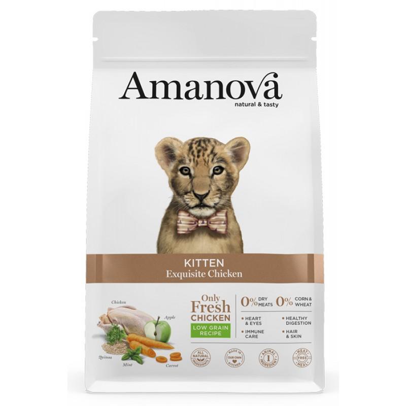 Сухой корм для котят Amanova Kitten с изысканной курочкой 1,5 кг