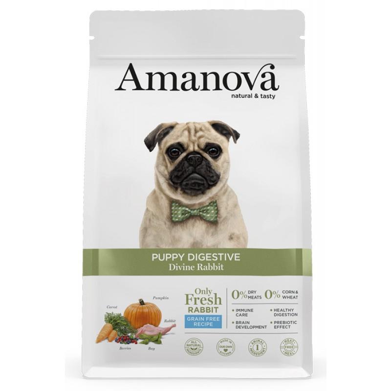 Сухой корм для щенков Amanova GF Puppy с чувствительным пищеварением с волшебным кроликом  2 кг