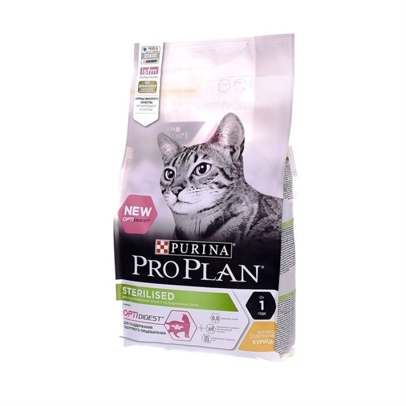 Сухой корм для кошек Purina Pro Plan Sterilised Optidigest Chicken 3 кг