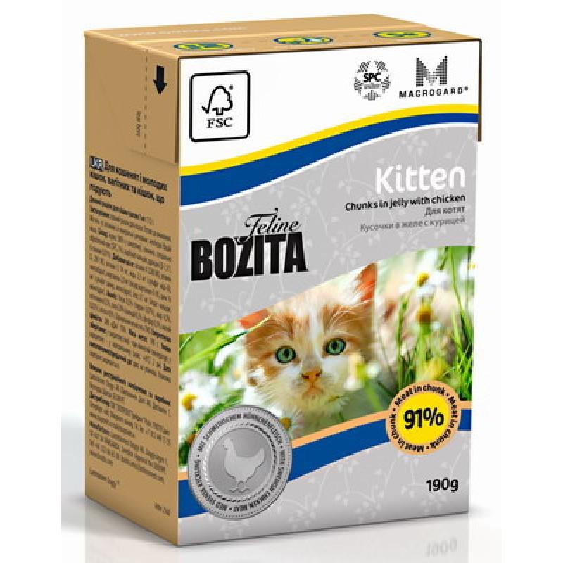 Влажный корм для котят Bozita Feline Funktion Kitten кусочки в желе курица 0,19 кг