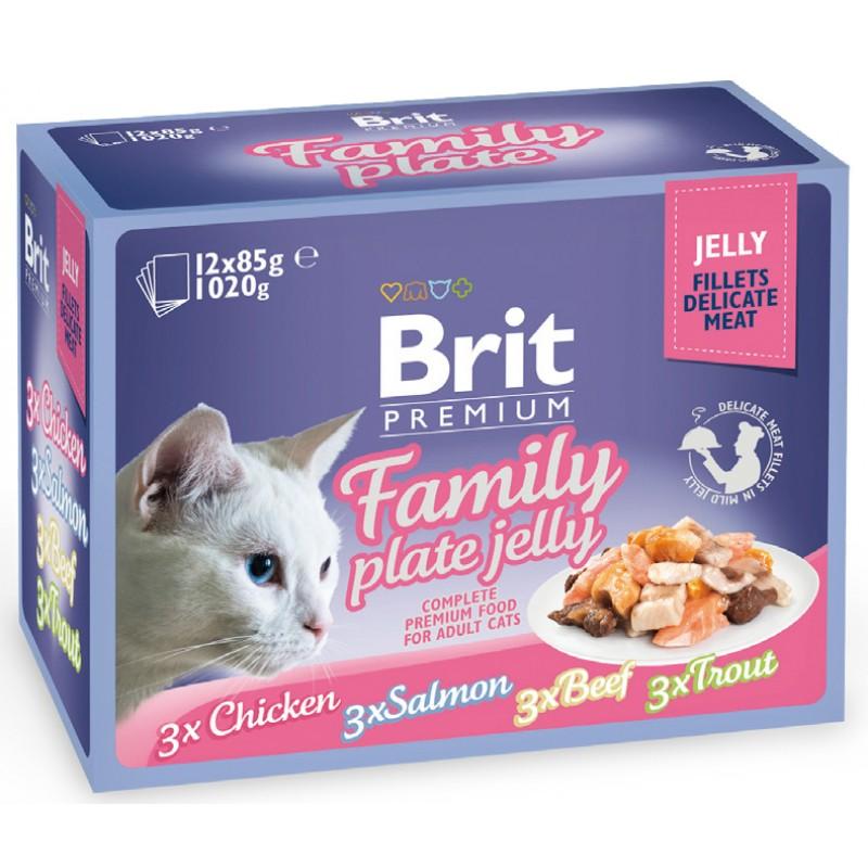 Влажный корм для кошек Brit Family Plate Jelly 1,02 кг