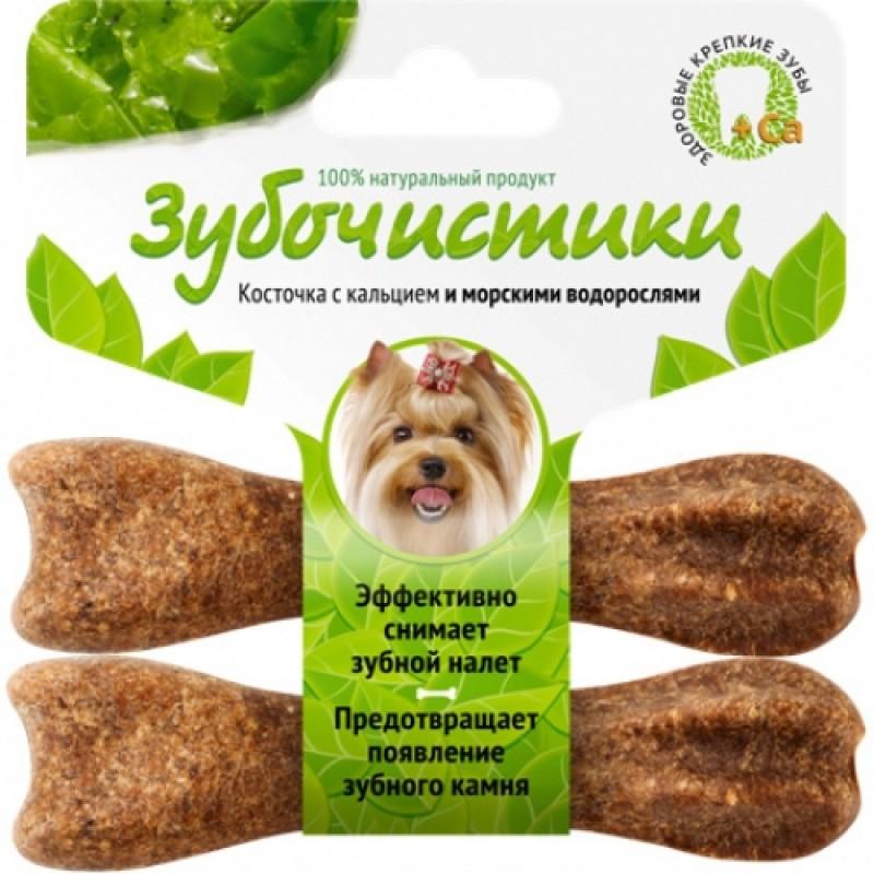 Лакомство для собак маленьких пород Зубочистики Косточка со вкусом морских водорослей 0,036 кг