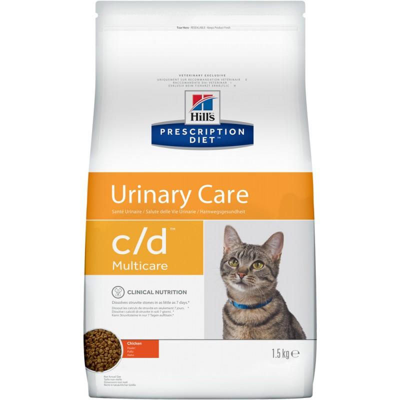 Сухой корм Hills Prescription Diet c/d Feline Multicare with Chicken диета для кошек 1,5 кг