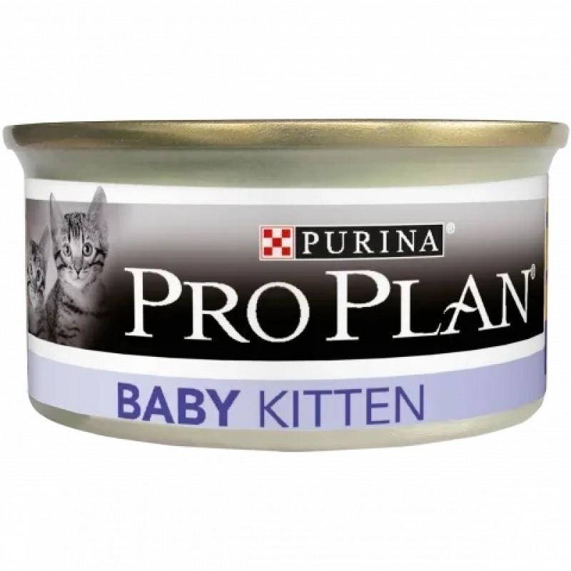 Влажный корм для котят Purina Pro Plan Baby мусс с курицей 0,085 кг