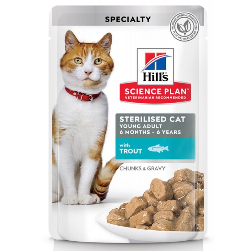 Влажный корм для кошек Hills Science Plan Feline Sterilised Young Adult with Trout Pouch 0,085 кг