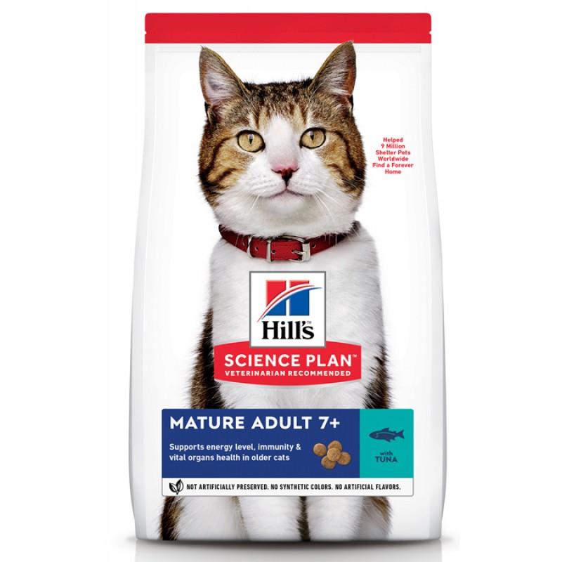 Сухой корм для кошек Hills Science Plan Active Longevity Mature Adult +7 Tuna 1,5 кг