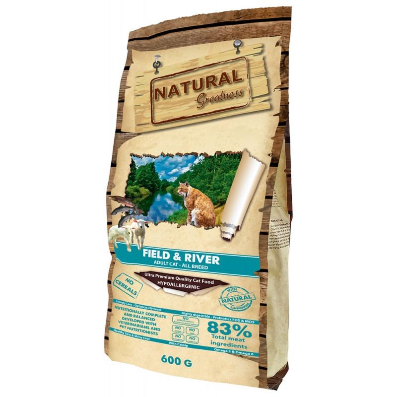 Сухой корм для кошек Natural Greatness Field & River Recipe 0,6 кг