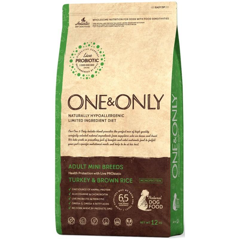 Сухой корм для собак One&Only Turkey & Rice Adult Mini Breeds 3 кг